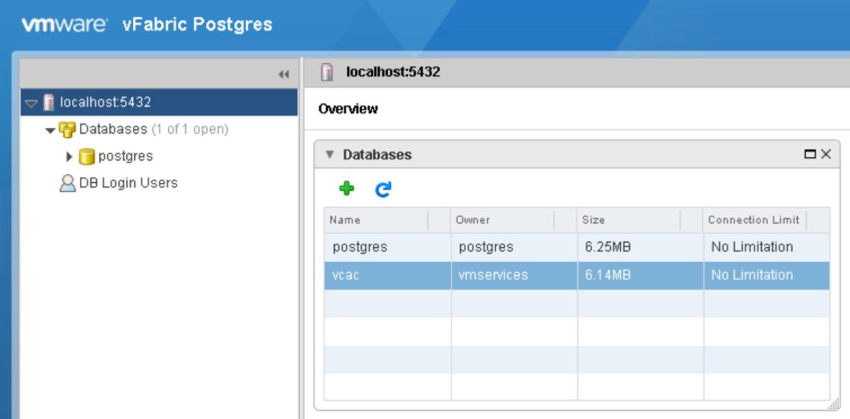 vPostgres Database