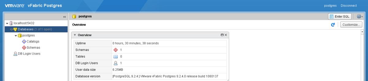 vPostgres SQL Session