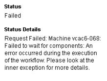 vCAC Error